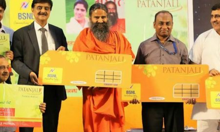 baba-ramdev-launches-sim-2gb-data-health-and-life-insurance-only-in-144