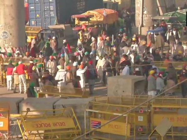 Farmers protest Delhi borders close Traffic Police issues advisory